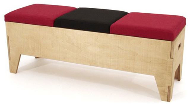 Banc coffre design 3 places contemporain banc coffre par - Banc coffre d entree ...