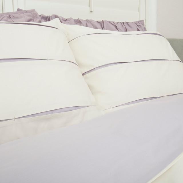 The vista lilac duvet set moderne housse de couette et for Parure de lit moderne