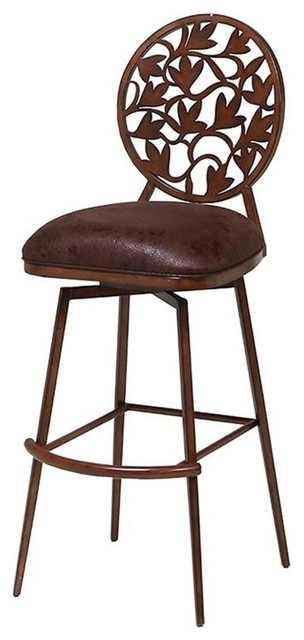 In swivel bar stool traditional bar stools and - Traditional kitchen bar stools ...