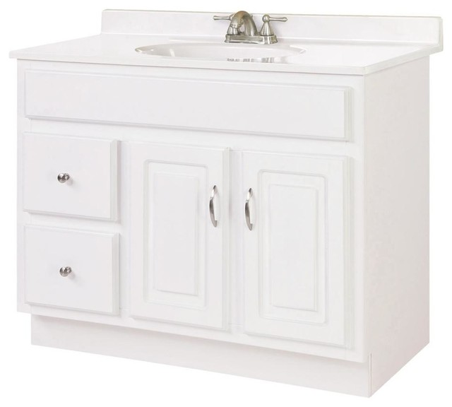 Concord Vanity Cabinet W 2 Drawers Transitional Bathroom Vanities By Shopladder