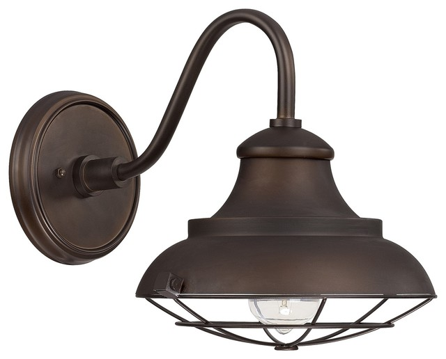 Capital Lighting 4561BB Outdoor 1 Light Barn Style Outdoor Shade Bronze Fa