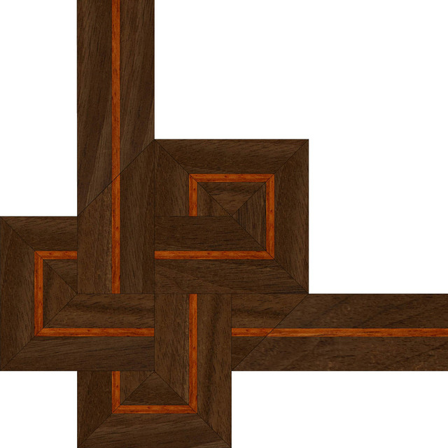 Oshkosh designs french knot inlay border and corner for Hardwood floor borders ideas