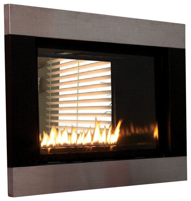 Loft series see through direct vent fireplace package Loft fireplace