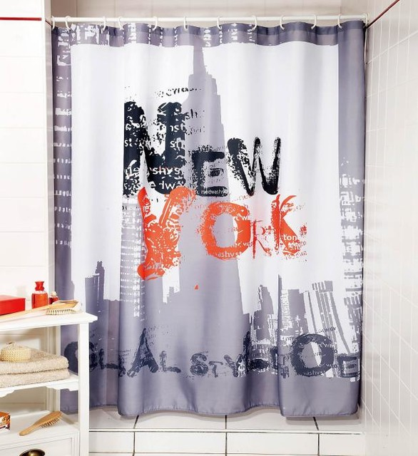 modern design abstract letter new york fabric shower curtain y 0106 moderne rideau de. Black Bedroom Furniture Sets. Home Design Ideas
