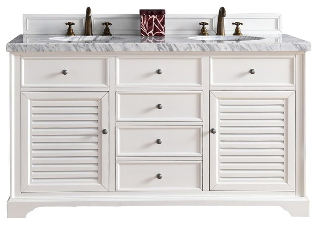 Savannah Bathroom Vanity Double Sink White
