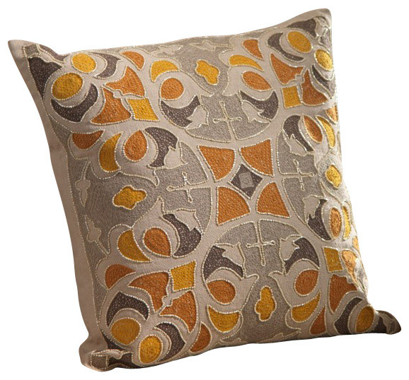 Zodax Throw Pillows : Oujda Embroidered Cotton Throw Pillow by Zodax - Contemporary - Decorative Cushions - by The ...