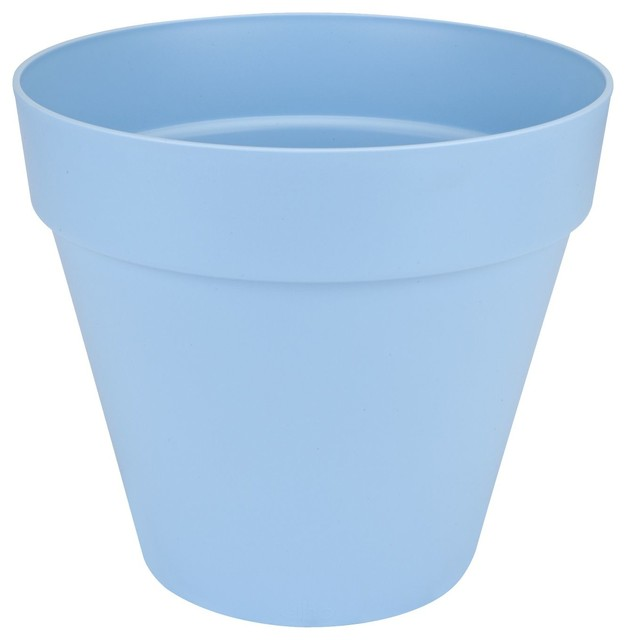 poft cache pot d40cm bleu pastel en plastique elho. Black Bedroom Furniture Sets. Home Design Ideas