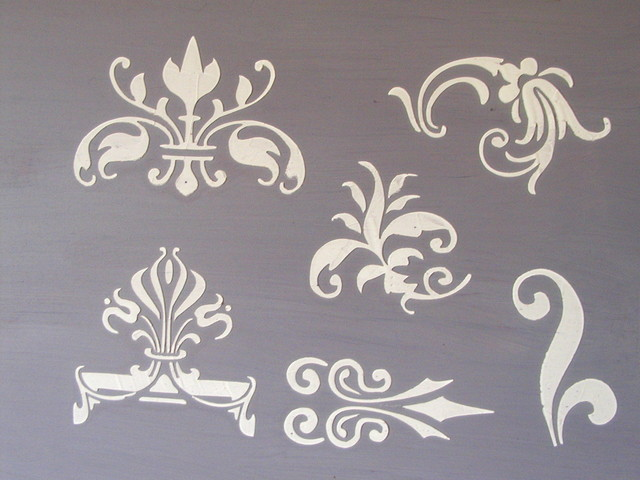 Design Stencils For Walls bedroom wall stencil Large Stencil Designs Search