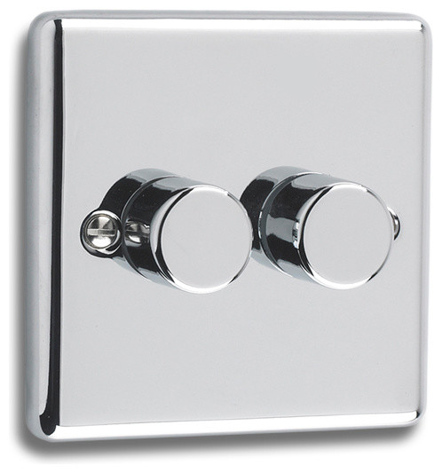Windsor polished chrome dimmer modern light switches plug sockets other metro by - Modern switches and sockets ...