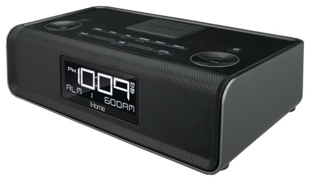 iHome Bluetooth Stereo Dual Alarm/FM Clock Radio and Speakerphone, USB Charging - Modern - Home ...