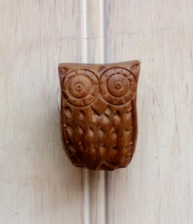 Wood Owl Knob by Our Sweet Home Alabama - Contemporary - Cabinet And Drawer Knobs - by Etsy