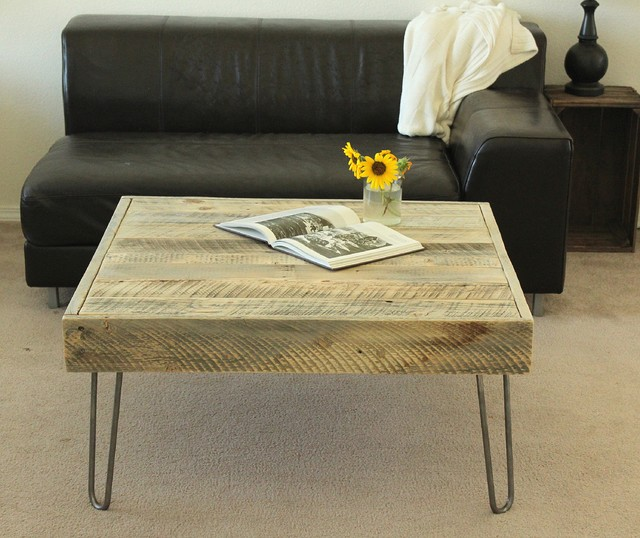 Reclaimed Wood Square Coffee Table Contemporary Coffee Tables Denver By Jw Atlas Wood Co
