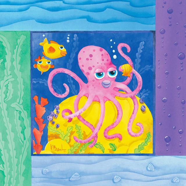 Sea Friends - Octopus Wall Mural - Contemporary - Wall ...