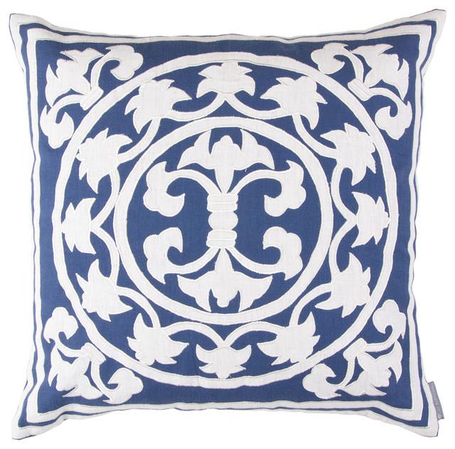 Lili Alessandra Lili Linen Navy Decorative Pillow - Modern - Decorative Pillows - by Layla Grayce