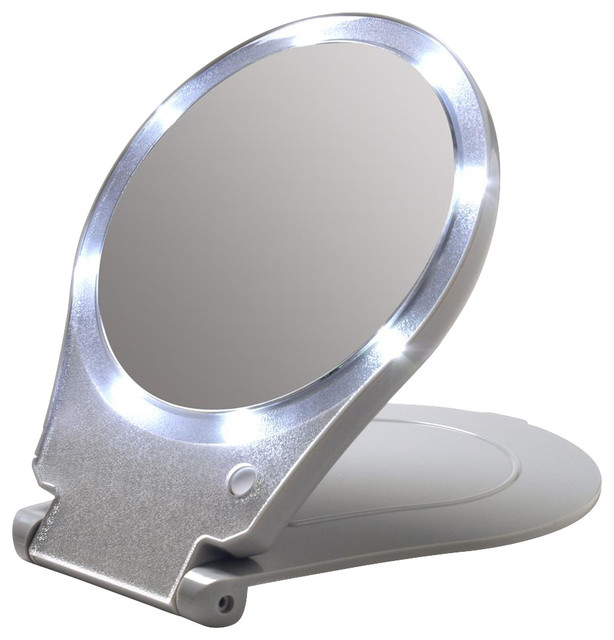 led lighted magnifying mirror contemporary makeup mirrors by. Black Bedroom Furniture Sets. Home Design Ideas