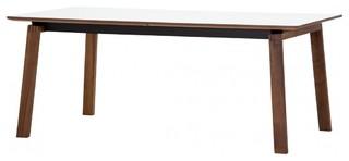 esstisch stig ausziehbar wei walnuss 200x100 cm modern dining tables by fashion4home gmbh. Black Bedroom Furniture Sets. Home Design Ideas