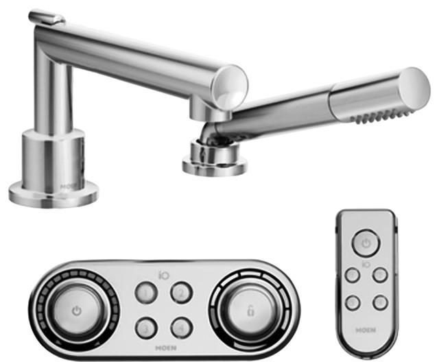 Moen TS92004 Arris Chrome Roman Tub Faucet With Hand Shower Iodigital Technol