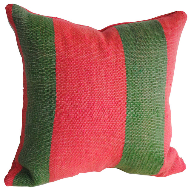 Modern Moroccan Pillows : Moroccan Striped Wool Pillow - Contemporary - Decorative Pillows - by One Kings Lane