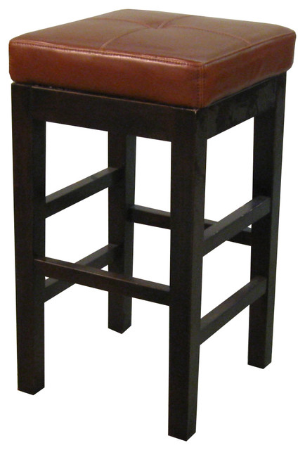 Valencia Backless Leather Counter Stool Cognac