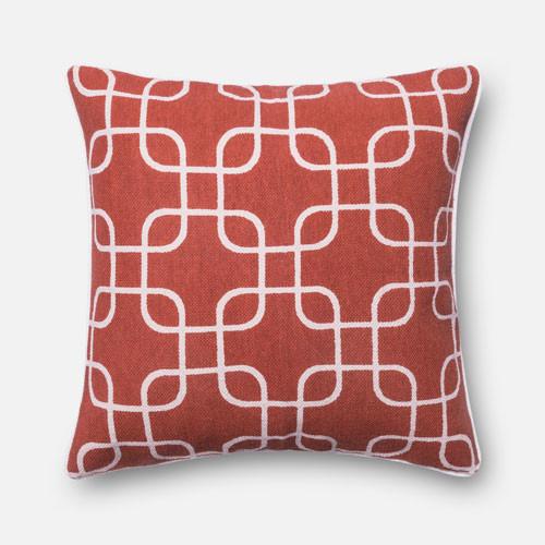 Ultra Modern Pillows : Rust and Ivory 22-Inch Decorative Pillow - Modern - Pillows