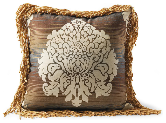 Rowan Cinnabar Square Outdoor Throw Pillow - Traditional - Outdoor Cushions And Pillows - by ...