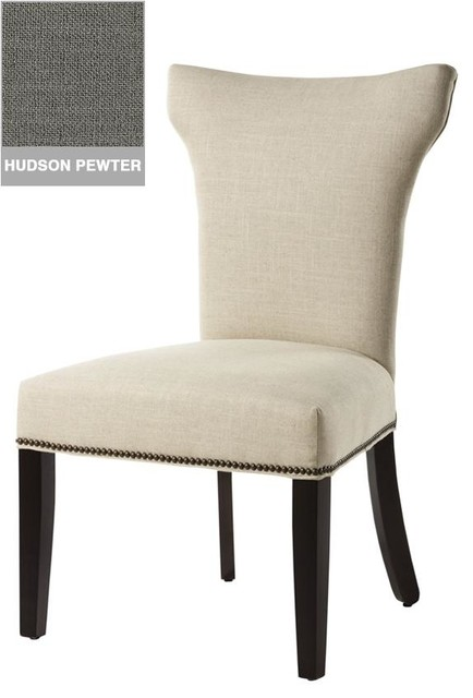 Contemporary curved back parsons chair traditional dining chairs