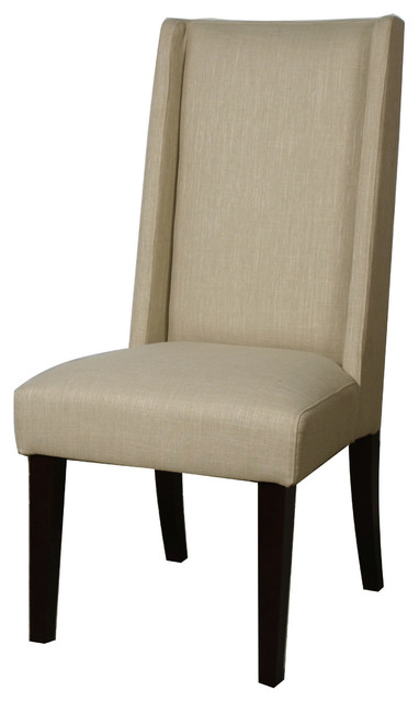 Lucas Fabric Dining Chair Flax Set Of 2 Contemporary Dining Chairs By