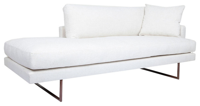 Claude 80 chaise white contemporary chaise longue for Chaise longue tours