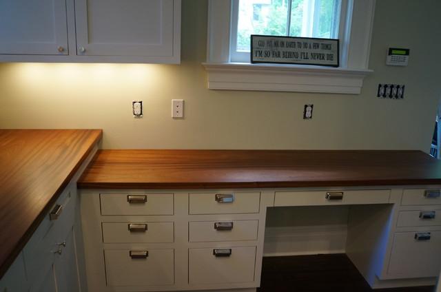 Tuxedo ny mahogany counter tops traditional kitchen for Kitchen design 14x14