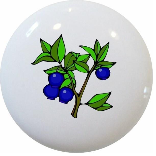 Blueberries Blueberry Fruit Ceramic Knob - Traditional ...