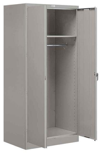 Wardrobe Storage Cabinet in Gray Finish - Contemporary - Storage Cabinets - by ShopLadder