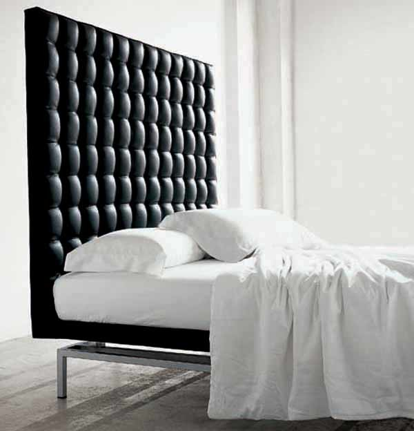 Boss bed high headboard for Leather headboard designs