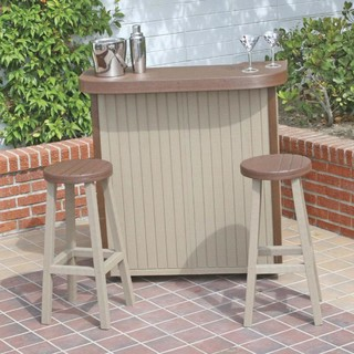 Eagle One Huntington Recycled Plastic Patio Bar With New England Pattern Mo