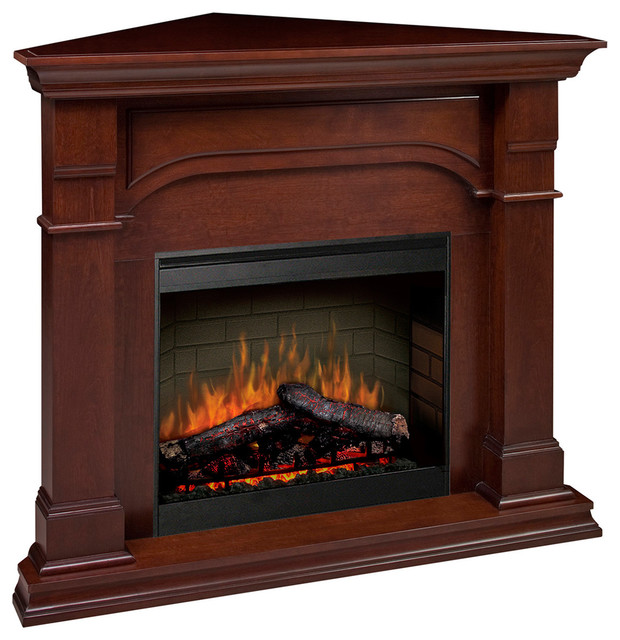 Dimplex oxford corner electric fireplace contemporary for Ventless fireplace modern