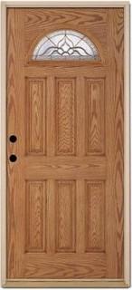 """... 36"""" Fiberglass Light-Oak Door - Front Doors - by The Home Depot"""