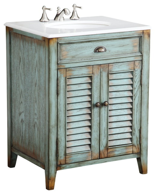 Cottage look abbeville bathroom sink vanity 26 farmhouse bathroom vanities and sink - Small cottage style bathroom vanity design ...