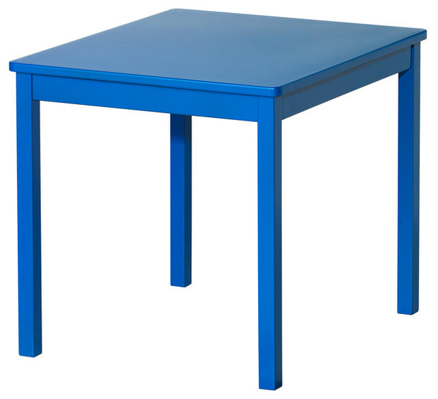 Kritter Children's Table, Blue - Scandinavian - Kids Tables And Chairs - by IKEA