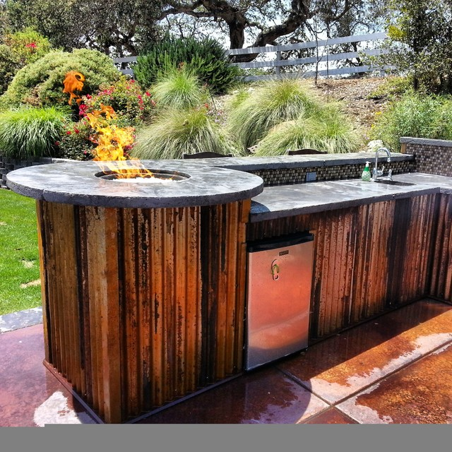 Outdoor kitchens and firepits rustic other metro by for Outdoor kitchen ideas houzz