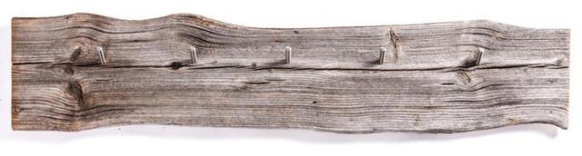 MUlltonnenbox Holz Und Edelstahl ~ Wandgarderobe Holz Edelstahl  Rustikal  Garderoben & Schirmständer