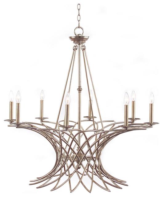 john richard 8 light chandelier ajc 8758 contemporary. Black Bedroom Furniture Sets. Home Design Ideas