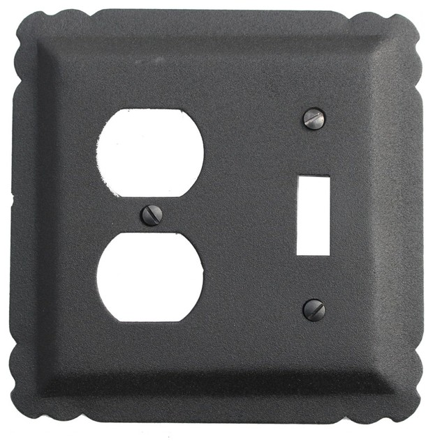 Switchplate black wrought iron toggle duplex transitional switch plates and outlet covers - Wrought iron switch plate covers ...