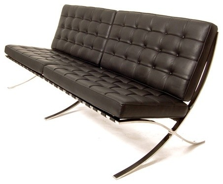 Barcelona sofa in siena black leather by rove concepts for Sofas 4 plazas barcelona