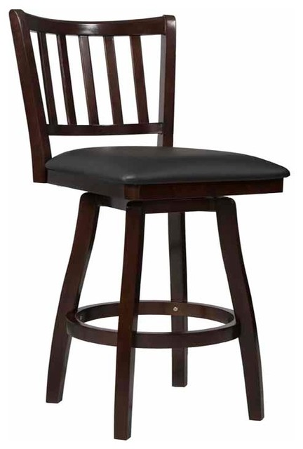 Big And Tall Slat Back Barstool Traditional Bar Stools