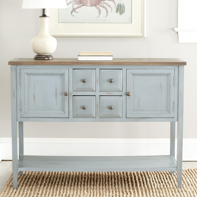 Safavieh Brighton French Blue Finish Storage Sideboard Contemporary Buffets And Sideboards