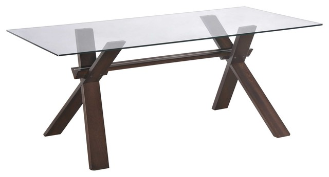 Global Furniture Dining Table Dark Contemporary Dining Tables By