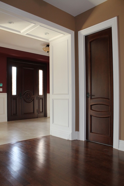 Interior doors project contemporary interior doors for Dark interior paint colors