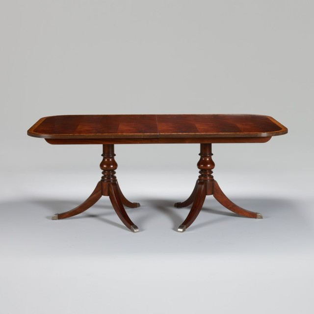 Newport Banded Double Pedestal Table