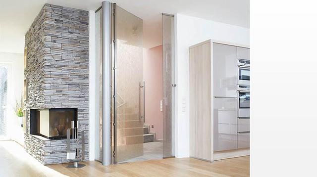 "Full Glass Hinges - ""Pivot"" - Modern - Living Room - miami - by ..."