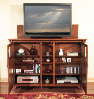 """Bungalow TV Lift Cabinet for flat screen TV's up to 55"""" - Contemporary ..."""