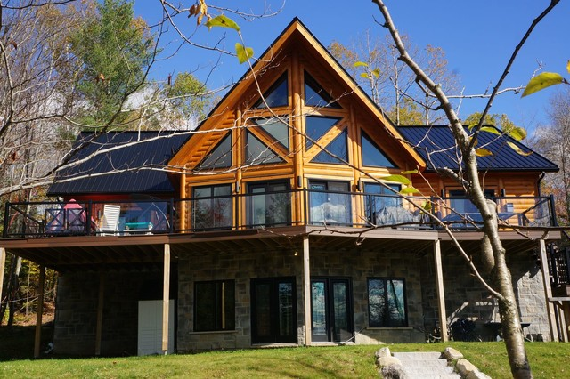 Timber Block Log Home Photos Traditional Charlotte